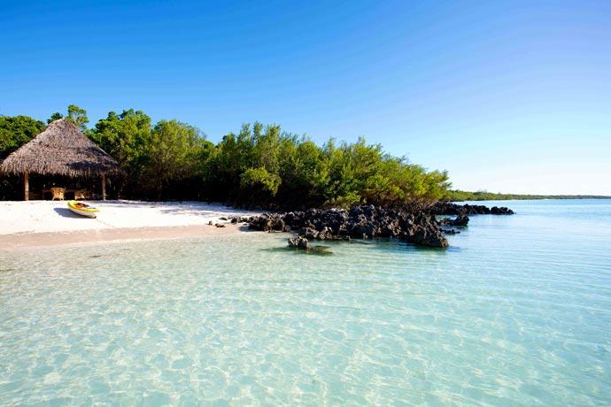 Sea and sandy beach at Vamizi Island Resort