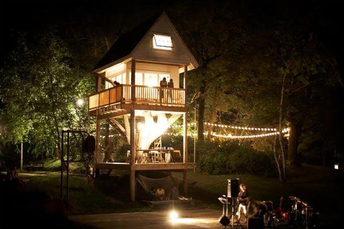 Treehouse at Wandawega Lake Resort in Wisconsin
