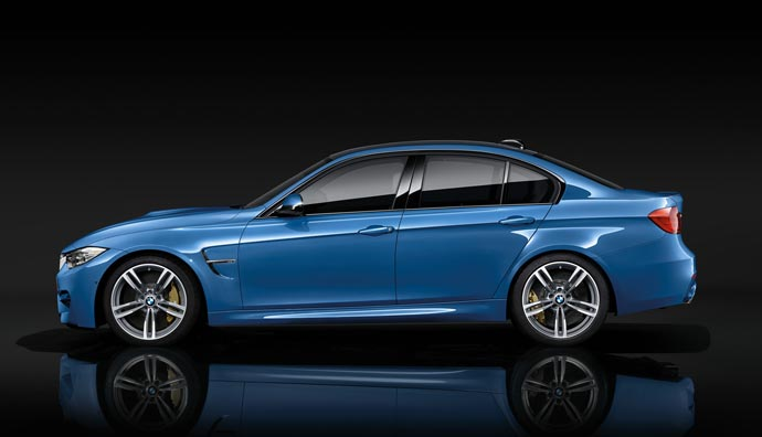 Side view of the 2015 BMW M3