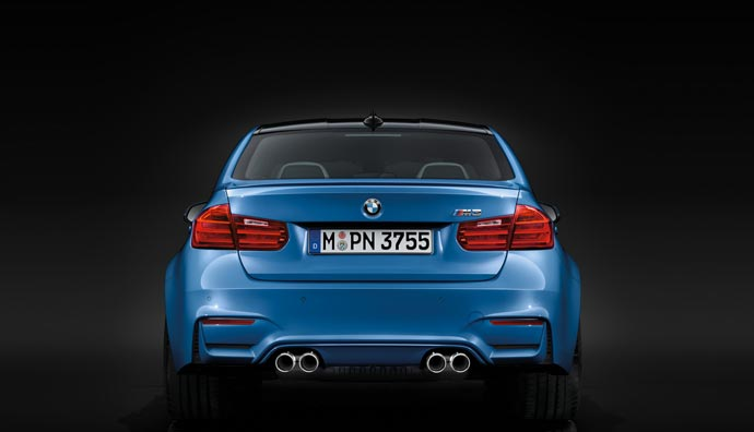 Back of the 2015 BMW M3