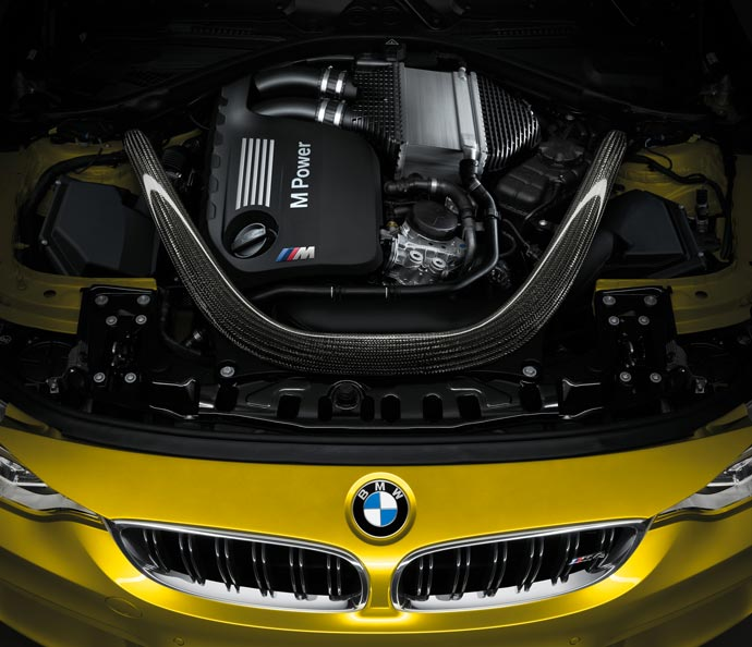 Engine of the 2015 BMW M4