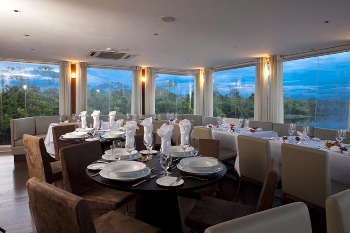 Dining on an Amazon Luxury Cruise by Aqua Expeditions