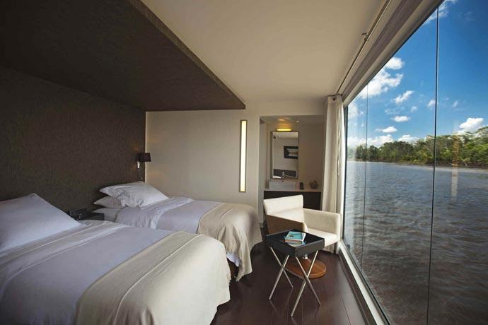 Bedroom on an Amazon Luxury Cruise