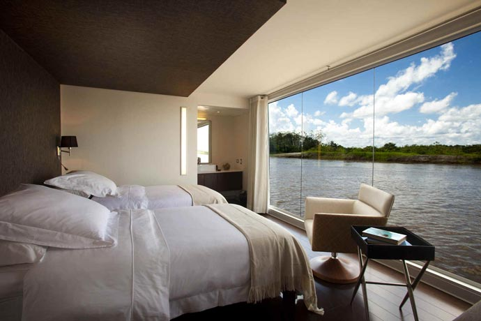 View from a room on an Amazon Luxury Cruises by Aqua Expeditions