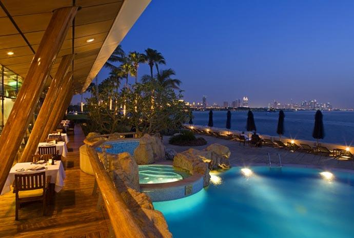 Outdoor pool and jacuzzi at Burj al Arab