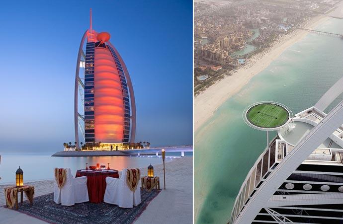 Burj al arab luxury hotel in dubai for The best luxury hotels in dubai