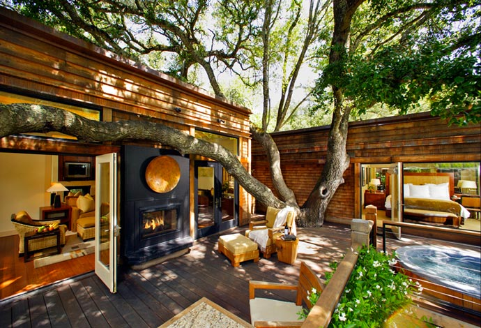 Patio at Calistoga Ranch
