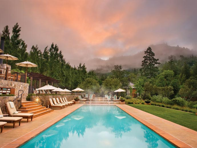 Swimming pool at Calistoga Ranch from Auberge Resorts