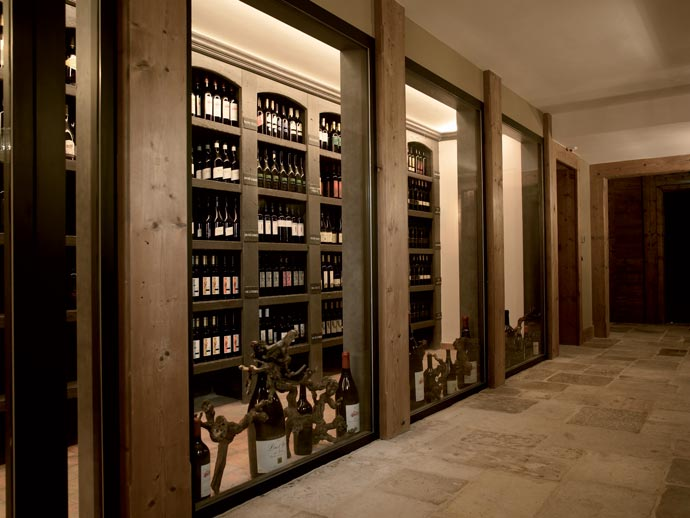 Wine collection at LeCrans Hotel & Spa