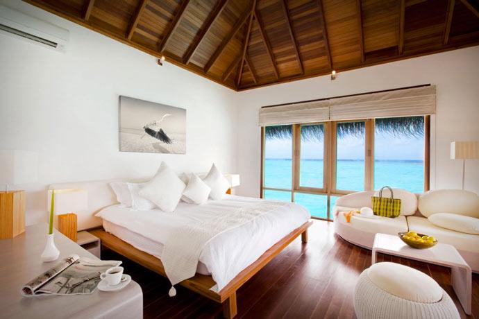 Room at the Maafushivaru Island Resort in the Maldives