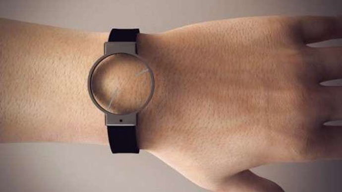 Minimalist analog wristwatch
