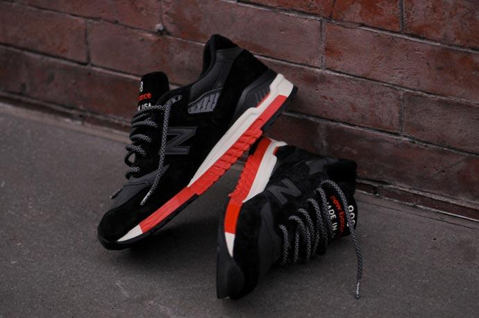 New Balance 998 Black Red