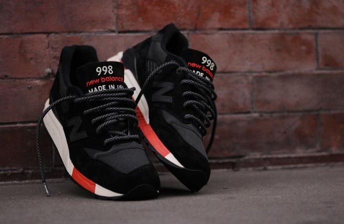 New Balance 998 Black/Red Re-Issue 3