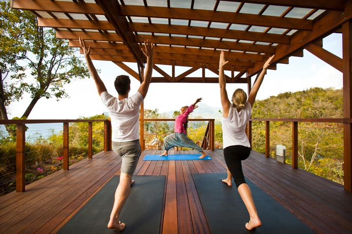 Yoga at the Secret Bay Resort in the Island of Dominica