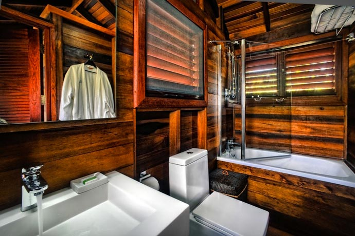 Bathroom design of a hotel in the Island of Dominica