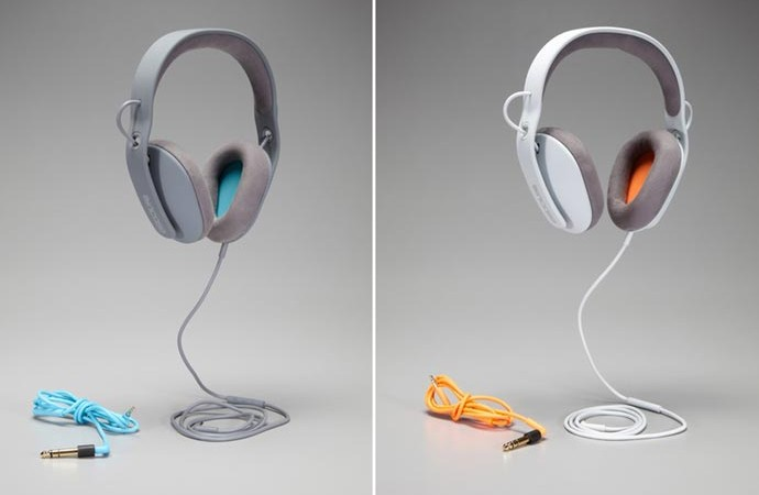 Gray and White Sonic Headphones by Incase