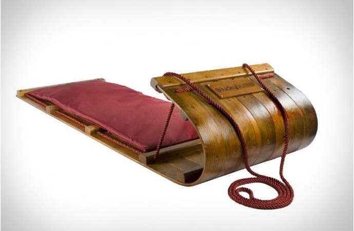 Wood Toboggan by Lucky Bums