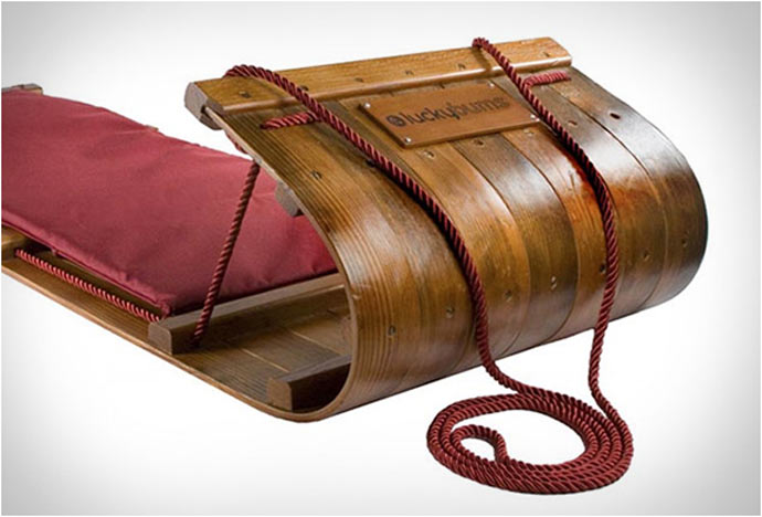 Wood Toboggan by Lucky Bums 3