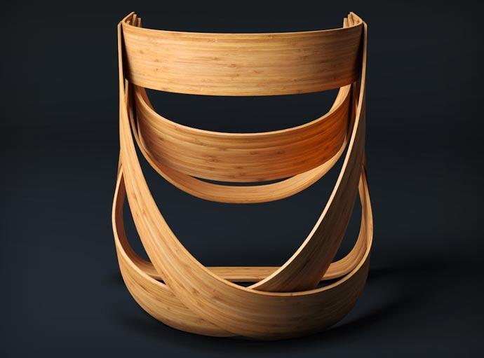 Woven Bamboo Chair 3