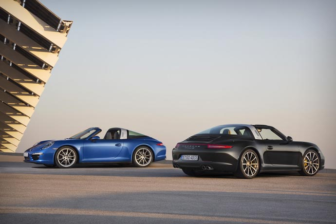2015 Porsche 911 Targa 4 and 4S