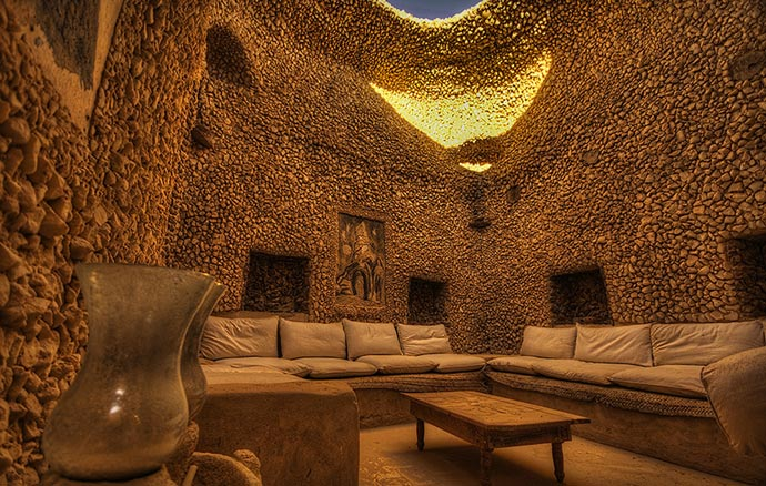 Lounge at Adrere Amellal in Egypt