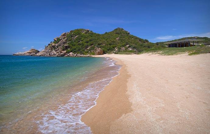 Beach at Amanoi resort in Vietnam
