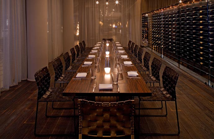 Dining room at Andaz West Hollywood