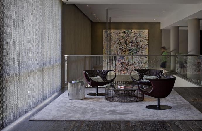 Interior design at Andaz West Hollywood Hotel in Los Angeles