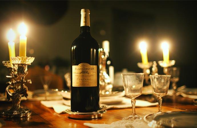 Restaurant and wine at Chateau De Flaugergues
