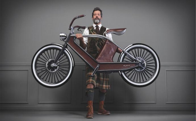 Man holding the Cykno Electric Bicycle