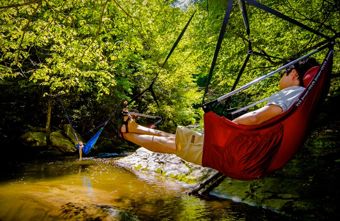 Eagle Nest Outfitters Lounger Chair out in the wild