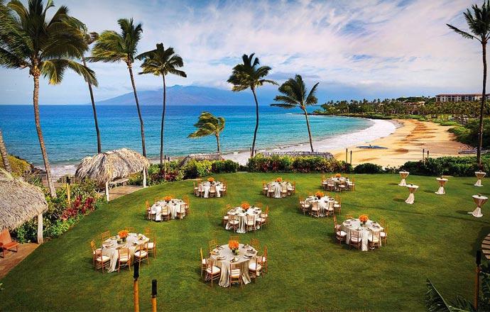 Wedding reception at Four Seasons Maui