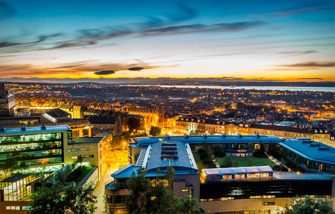 View from Glasshouse Hotel in Edinburgh