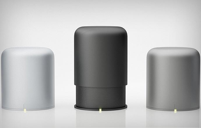 Black, white and gray Hidden Radio 2 bluetooth speakers