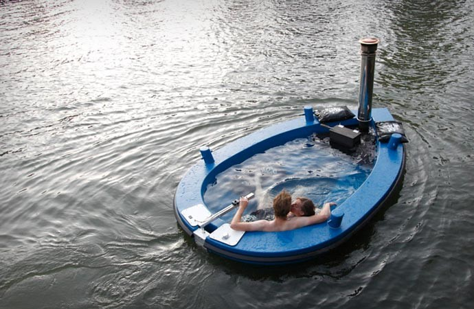 Blue Hot Tub Boat