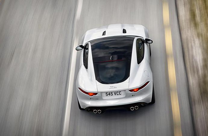 Top of the Jaguar F-Type Coupe