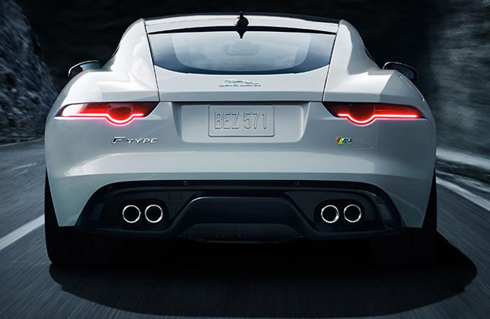 Rear of the Jaguar F-Type R