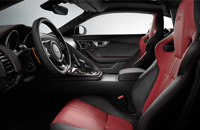 Interior of the Jaguar F-Type R