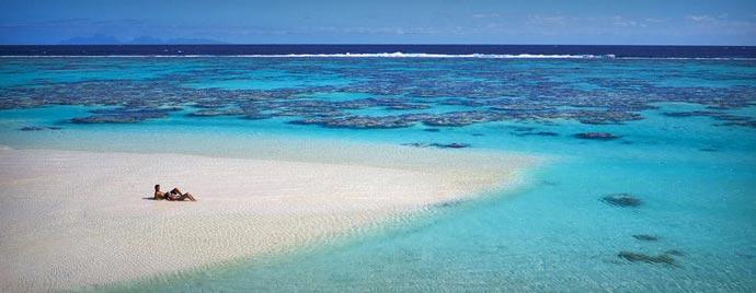 Beach at Marlon Brando French Polynesian Resort