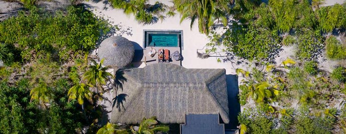 Hut on Marlon Brando French Polynesian Resort
