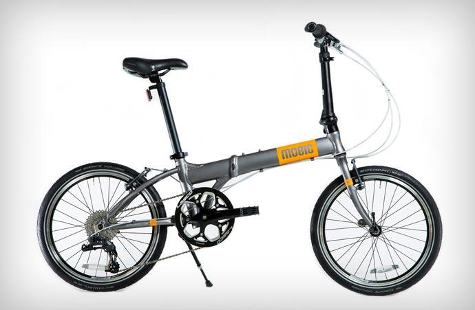Unfolded Mobic X9 Folding Bike