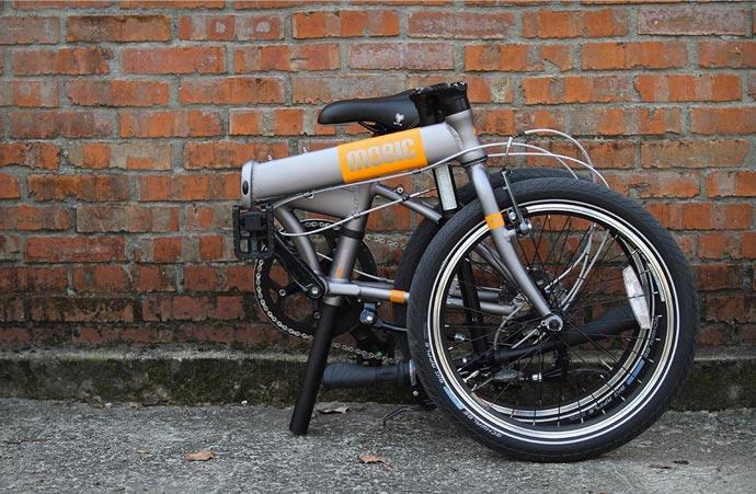 Folded Mobic X9 Folding Bike