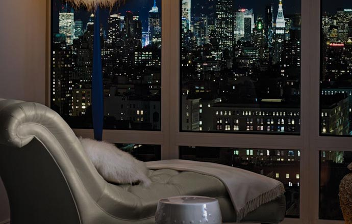 View from a luxury room at Mondrian Soho in New York