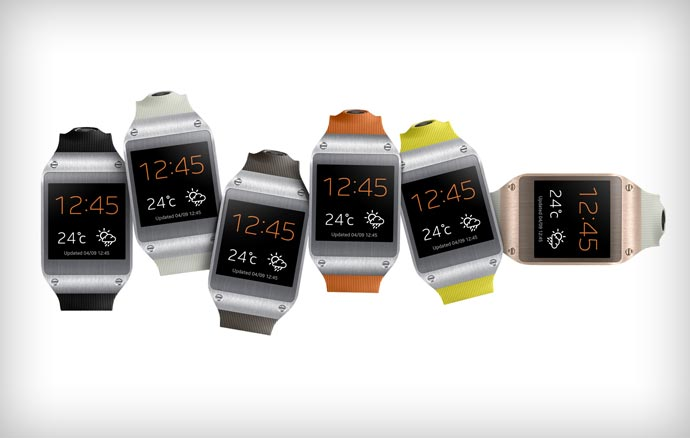 Different colors of the Samsung Galaxy Gear Smartwatch