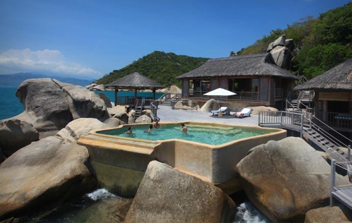 Pool at Six Senses Ninh Van Bay