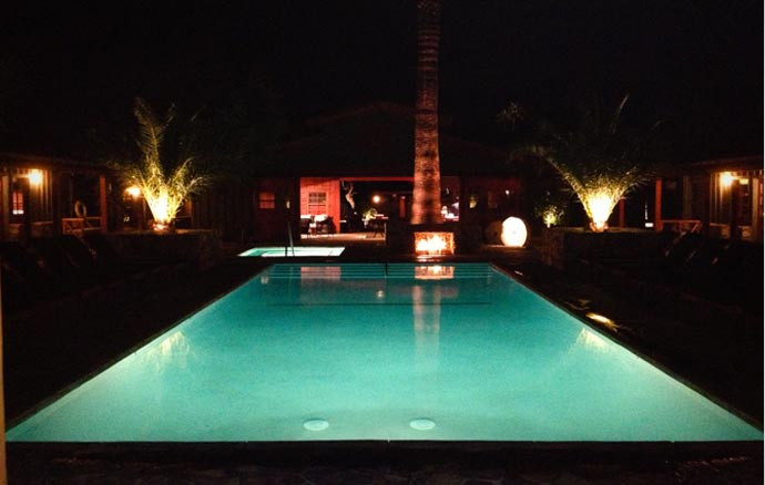 Pool at Sparrows Hotel in Palm Springs
