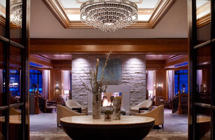 Interior design at St Regis Aspen Resort