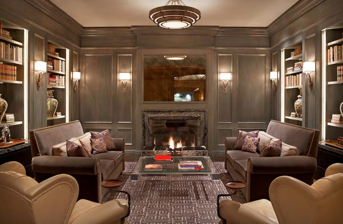 Room with fireplace at the St Regis Aspen Resort