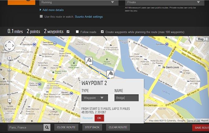 Suunto Ambit 2 map
