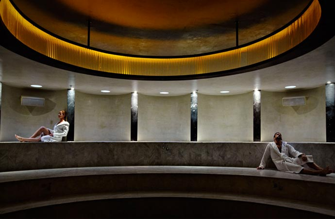 Steam room at The Standard Spa Hotel